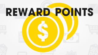 Pay for purchases with points and save up to 50%!
